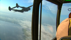 Lockheed P-38 Aerial Stock Footage