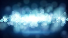 blue circle bokeh lights loop background - stock footage