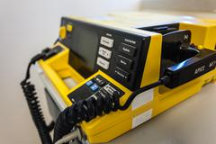 defibrillator unit - stock photo