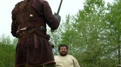 Celtic warrior fight 24 Stock Footage