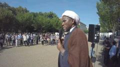 Muslims unite against ISIS - stock footage