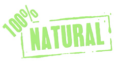 Green Rubber Stamp 100 Percent Natural - stock footage