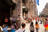 Stock Photo of Scenes from the NYC Gay Pride Parade on June 29, 2014 in New York City.