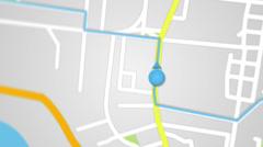 City map GPS navigation seamless loop Stock Footage