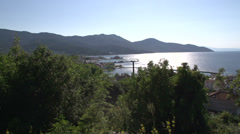 Pan from Limenas, Thassos town,  Greece Stock Footage