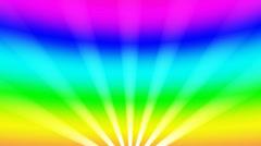 Beams of light rainbow Stock Footage