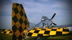 North American P-51 Mustang Graphic Page Stock Footage