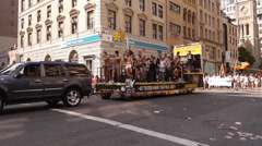 Scenes from the NYC Gay Pride Parade on June 29, 2014 in New York City. Stock Footage