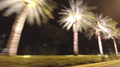 Drivers pov Golden Beach night Stock Footage