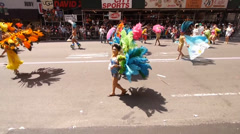 Scenes from the NYC Gay Pride Parade on June 29, 2014 in New York City. - stock footage
