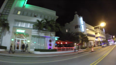 Collins Ave night drive Stock Footage