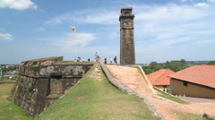Tracking shot of beautiful Galle fort, Sri Lanka. Stock Footage