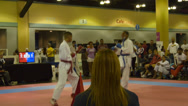 Stock Video Footage of Olympic Cup 2014 full contact karate  tournament