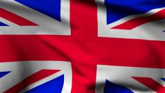 Flag of United Kingdom of Great Britain - stock footage
