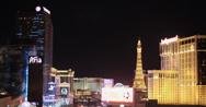 Stock Video Footage of 4K video of the Las Vegas strip at night