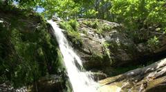 Tilt Waterfall in Maries, Thassos Greece Stock Footage