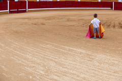 Child on arena Stock Photos