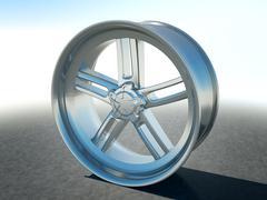 Alloy automotive disc or wheel Stock Illustration