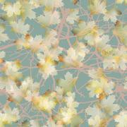 Autumn maple leaves pattern background. EPS 10 - stock illustration