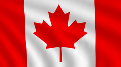 Flag of Canada - stock footage