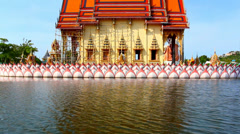 Water temple with reflection at Koh Samui, Thailand. Video Stock Footage