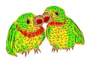 Stock Illustration of parrots