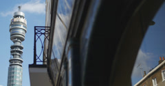 London British Telecom tower 4K - stock footage