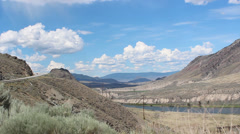 Trans Canada Highway Time Lapse near Ashcroft  British Columbia Stock Footage