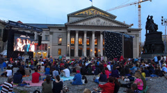 Open Air Opera performance in European city Munich Germany Europe - stock footage