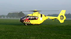 trauma helicopter after accident - stock footage