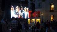 Stock Video Footage of Actors curtain call on stage bowing final bow Open Air Opera Munich Germany
