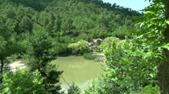 Lake near the waterfall in Maries, Thassos Greece Stock Footage