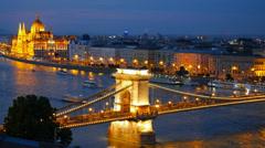 Panorama of Budapest, Hungary. - stock footage