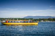 Stock Photo of Ferry boat on Lake Geneva