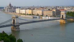 Panorama of Budapest, Hungary. Stock Footage