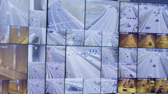 Closeup of traffic monitors Stock Footage