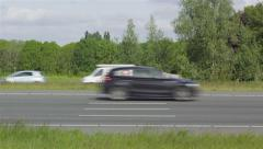 Side view on highway Stock Footage