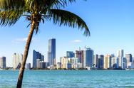 Stock Photo of miami downtown skyline