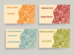 vector business card template - stock illustration