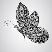 vector butterfly - stock illustration