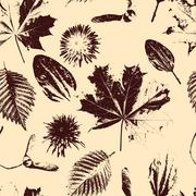 vector seamless floral pattern - stock illustration