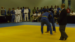Puerto Rico local Olympic Cup 2014 - judo tournament 1 Stock Footage