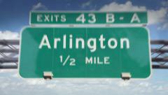 Road Sign-Arlington - stock footage