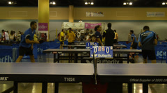 Puerto Rico local Olympic Cup 2014 - ping pong tournament 2 Stock Footage