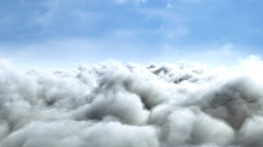 Flight over clouds, loop-able animation Stock Footage
