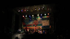 THAILAND, KOH SAMUI, OCTOBER 7, 2013: jazz singing on stage at night. Video Stock Footage