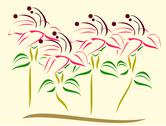 Stock Illustration of minimalist design of flower plants vector