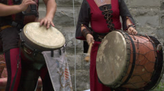 Medieval music instrument 05 Stock Footage