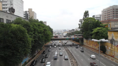 Traffic in Sao Paulo Stock Footage