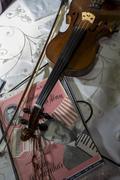 Violin and musical score by Zequinha de Abreu Stock Photos